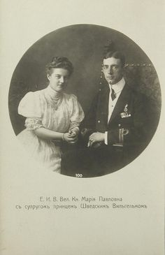 Prince Wilhelm of Sweden and Grand Duchess Maria Pawlowa of Russia