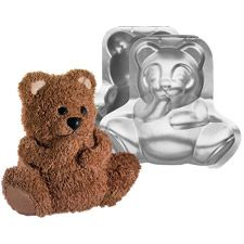 Stand-Up Cuddly Bear Pan Set - Wilton  I have this! And my sister and I did this for Jaci's first birthday!