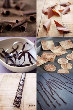 D�corations en chocolat : techniques en images