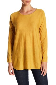 Cashmere Ballet Neck Long Sleeve Tunic