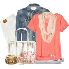 """""""White Jeans...Summer to Fall"""" by madamedeveria on Polyvore"""