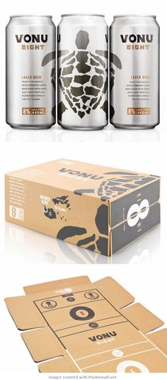Vonu Eight the can, the box inside and out #packaging curated by Packaging Diva PD