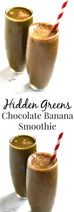 Hidden Greens Chocolate Banana Smoothie is ready to drink in two minutes and is…