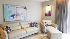 Art in situ at customer home Amazing Paintings, Sofa, Couch, Galleries, Contemporary Art, Art Gallery, New Homes, Canvas, Furniture