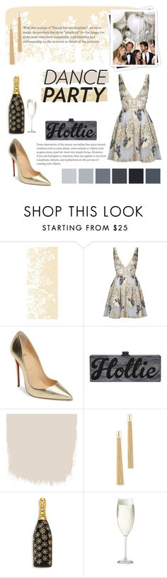 """""""DANCE PARTY DRESS"""" by rbnoor310 ❤ liked on Polyvore featuring Timorous Beasties, Notte by Marchesa, GALA, Christian Louboutin, Rosantica, Marc Jacobs and Crate and Barrel"""