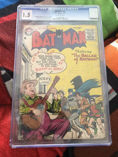 Batman #95 CGC 1.5 DC Comics Golden Age October 1955 The Ballad of Batman #Colour Marvel Universe Characters, Comic Books For Sale, Spiderman, Batman, Silver Age, Golden Age, Thor, Iron Man, Dc Comics