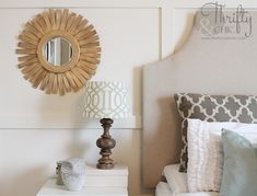 DIY Sunburst Mirror for $10, made using wood shims from the hardware store!