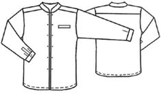 Sewing Clothes For Men Free pattern for a man's shirt with a mandarin style collar. Good for Steampunk. Sewing Patterns Free, Clothing Patterns, Free Pattern, Sewing Shirts, Sewing Clothes, Sewing Essentials, Sewing Tips, Sewing Tutorials, Sewing Projects