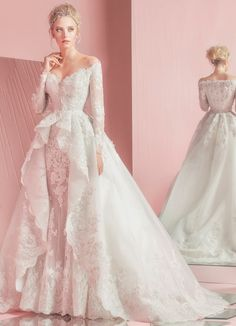 Amazing collection for brides-to-be! Zuhair Murad Spring 2016 Bridal Collection is just like a fairytale. Zuhair Murad knows how to flatter a bride's figure beautifully. 2016 Wedding Dresses, Bridal Dresses, Dress Wedding, Dresses 2016, Wedding Dressses, Dressy Dresses, Bouquet Wedding, Wedding Nails, Cheap Dresses