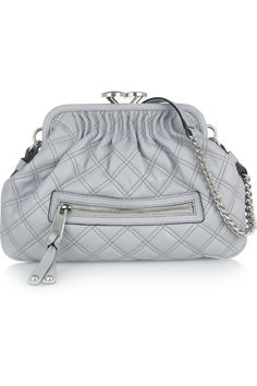 Marc Jacobs Little Stam quilted leather shoulder bag. Grey