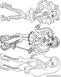 Coloring pages Monster High – Page 1 – Printable Coloring Pages Online Make your world more colorful with free printable coloring pages from italks. Our free coloring pages for adults and kids. Cumple Monster High, Monster High Birthday, Monster High Party, Monster High Dolls, Coloring Pages To Print, Coloring Book Pages, Printable Coloring Pages, Coloring Pages For Kids, Kids Coloring