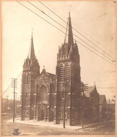 St Jacobi Evangelical Lutheran Church, Milwaukee, Wisconsin At S.Mitchell Street and Forest Home Avenue. Demolished in Milwaukee Wisconsin, Forest House, Lutheran, Cathedrals, Saints, History, Architecture, Street, Photos
