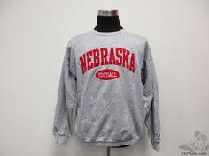 Vtg 90s Champion Nebraska Corn Huskers Crewneck Sweatshirt sz L Large SEWN NCAA #Champion #NebraskaCornhuskers
