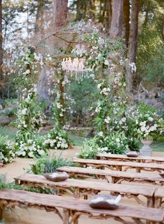 wedding ceremony idea; photo: Jose Villa Photography