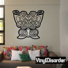 Celtic Ornament Wall Decal - Vinyl Decal - Car Decal - SM110