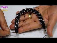 Tutorial Video- New Model! Making Flower Garden Bracelets with Verev Dönen Peyote Technique - YouTub Simple Bracelets, Seed Bead Bracelets, Handmade Bracelets, Beaded Jewelry Designs, Bead Jewellery, Diy Schmuck, Schmuck Design, Beads And Wire, Metal Beads