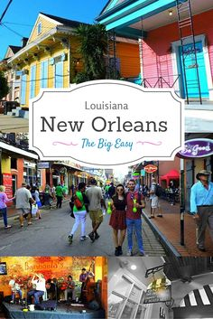 New Orleans - The Big Easy. Home to jazz, Po Boys, and Bourbon Street. Lose two days of your life to this hot mess then return for more! For unique ideas click the pin.