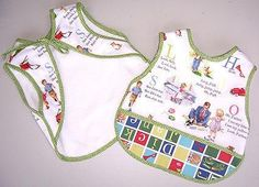 Fabulous Fifties Bib tutorial by Nicole Mallalieu Design *** *** Baby Sewing Projects, Sewing For Kids, Sewing Tutorials, Sewing Crafts, Sewing Ideas, Baby Bibs Patterns, Sewing Patterns, Couture Bb, Bib Tutorial