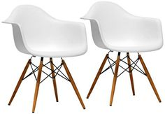 Set of 2 Pascal White Plastic Side Chairs