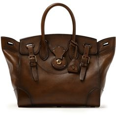 Ralph Lauren Burnished Soft Ricky 33 (€2.930) ❤ liked on Polyvore featuring bags, handbags, ralph lauren bags, kiss-lock handbags, ralph lauren handbags, handle bag and ralph lauren