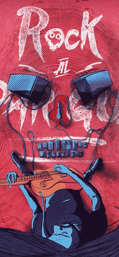 Illustrations Discover Cartel Rock al parque 2015 Pop Rock, Rock And Roll, Rock Y Metal, Band Wallpapers, Music Crafts, Music Painting, Music Wall, Rock Posters, Illustrations And Posters