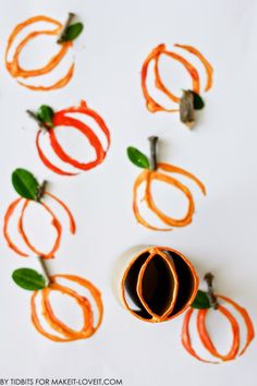 Make some pumpkin stamp art using old toilet paper rolls. Great fall project for kids of all ages!