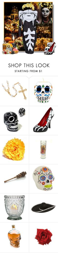 """Dia de los Muertos (Day of the Dead)"" by jleigh329 ❤ liked on Polyvore featuring Sterling Essentials, Thierry Mugler, Funtasma, Crate and Barrel, ThinkGeek, Masquerade, Dayofthedead and diadelosmuertos"