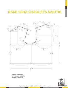 Manual de patronaje CMT - SENA Bodice Pattern, Jacket Pattern, Pattern Books, Pattern Making, Sewing Projects, Charts, Clothes, Couture, Patterns