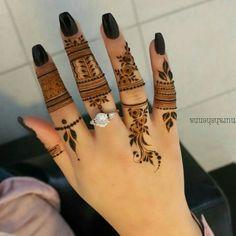 Finger Henna Designs, Arabic Henna Designs, Stylish Mehndi Designs, Mehndi Designs For Fingers, Unique Mehndi Designs, Mehndi Design Pictures, Simple Mehndi Designs, Henna Tattoo Designs, Mehndi Desgin