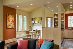 Contemporary Weekend House Sugar Hill NH - contemporary - dining room - burlington - by Smith & Vansant Architects PC