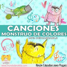 Mundo de Rukkia: Monstruo de Colores Preschool Curriculum, Preschool Classroom, Preschool Art, Poetry For Kids, Yoga For Kids, Monster Activities, Preschool Activities, Social Emotional Activities, Kindergarten Colors