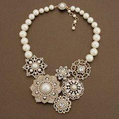 Sadie's Things, Vintage Jewelry, Reimagined: Lovin' Statement Necklaces! (and repurposed vintage jewelry)
