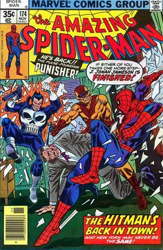 Comic Book Critic - Google+ - The Amazing Spider-Man #174 (Nov '77) cover by Ross Andru & Frank Giacoia.