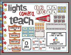 Teach it With Class: Lights, Camera, Teach! Classroom organization & decor