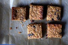 thick, chewy granola bars | smittenkitchen.com  Didn't use corn syrup. Needs less than 1/4c sugar