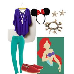 Ariel disney inspired outfit