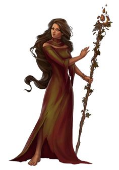 Female Human Witch or Druid - Pathfinder PFRPG DND D&D 3.5 5th ed d20 fantasy