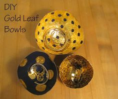 LuaBelle Blog: DIY gold leaf bowls