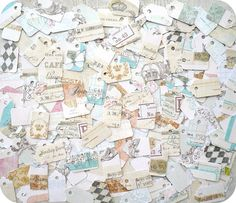 LAST SET  Shabby Chic Cottage Jewelry Tags by LittlePaperFarmhouse, $11.25