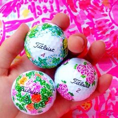 Golf Balls - Lilly Pulitzer golfballs on @dailydoseof_prep on Instagram! Www.dailydoseofpr...