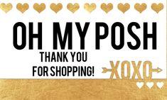 Poshmark Thank You Handbags On Sale, Luxury Handbags, Garage Sale Tips, Thank You Printable, Posh Shop, Perfectly Posh, For Sale Sign, One Clothing, Closet Designs