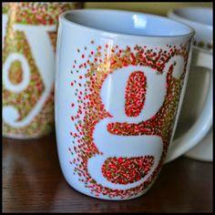 DIY Monogram And Painted Mugs