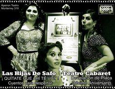 Invitación Las Hijas de Safo Teatro Cabaret