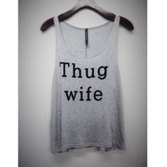 """• coming soon • """"thug wife"""" tank top Item will be available in (2) S, (2) M, (2) L - let me know if you'd like to reserve a size! Item price will be $20 with $4.95 discounted shipping ( or $3.95 on bundles $30+) Tops Tank Tops"""