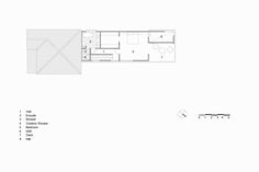 The idea of the long hallway connects this project to the existing 4 room workers cottage. Set on an elevated site looking over Brisbane city… Arch House, Brisbane City, Architectural Drawings, Architects, Deck, Floor Plans, Houses, Homes, Front Porches