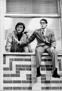 Director Richard Donner and Christopher Reeve filming Superman: The Movie.