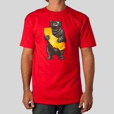 Upper Playground - Cali Bear T-Shirt in Red by Munk One
