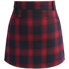 Chicwish Classy Tartan Bud Skirt in Red (2,600 INR) ❤ liked on Polyvore featuring skirts, mini skirts, bottoms, chicwish, юбки, red, tartan skirt, short red skirt, plaid mini skirt and purple mini skirt