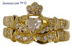 Gold Claddagh ring