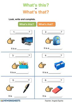 English Worksheets For Kindergarten, English Worksheets For Kids, English Lessons For Kids, Kids English, English Activities, Learn English, Teaching Grammar, Teaching Time, Teaching French